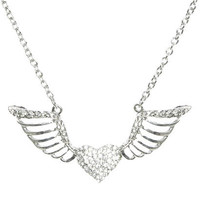 Winged Heart Pendant Necklace | Shop Jewelry at Wet Seal