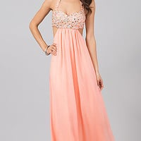 Floor Length Halter Open Back Dress