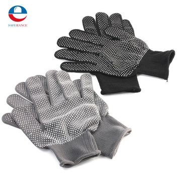NEW 4 Pair 2 Colors Hair Straightener Perm Curling Hairdressing Heat Resistant Finger Glove Free Shipping