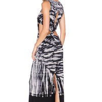 Young, Fabulous & Broke Alba Maxi Dress in Black Alligator Wash