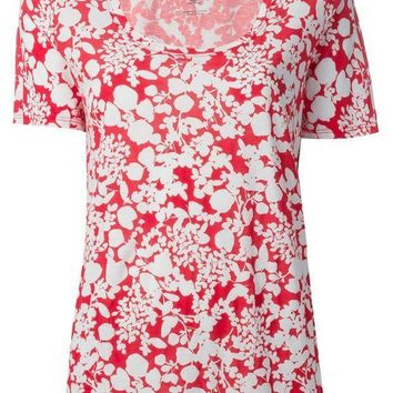 Tory Burch 'esther' Floral Print T Shirt