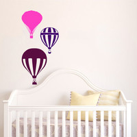 Housewares Hot air Balloons Wall Vinyl Decal Sticker Kids Nursery Baby Room Decor V299
