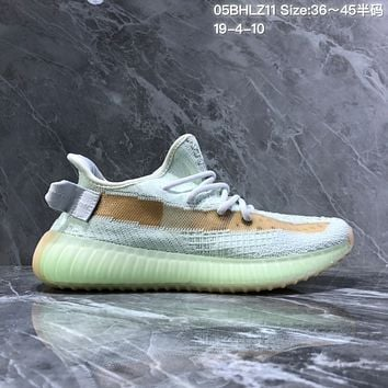 HCXX A1266 Adidas Yeezy Boost 350 V2 Knit Sports Running Shoes Mint Green