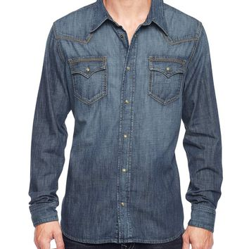 True Religion Baseball Stitch Jake Western Mens Shirt - Outfield