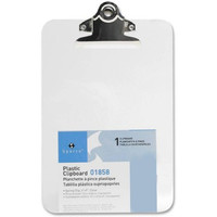 Sparco Transparent Molded Plastic Clipboard