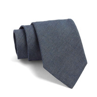 Fulton Crosshatch Tie in Blue Grey