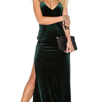 SU2C x REVOLVE In The Deep Maxi Dress in Hunter Green