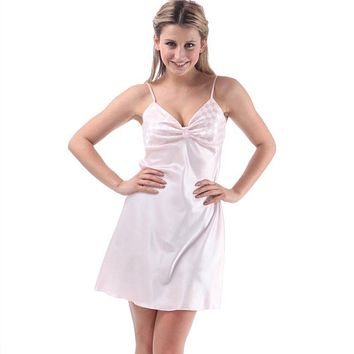 Sexy Lingerie Female Nightie Sleep Dress Sexy Satin Sleepwear Silk Nightgown Women Nightdress