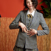 Latitude Check Blazer