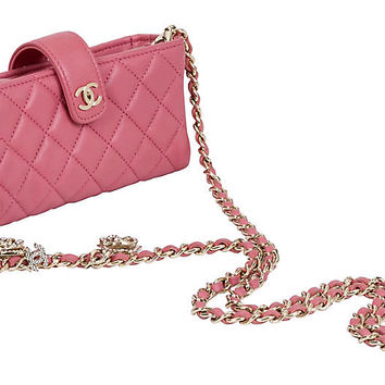 Chanel Pink Crossbody w/ Camellia Charms | One Kings Lane