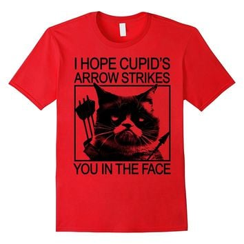 Grumpy Cat Valentine's Day Cupid's Arrow To The Face T-Shirt