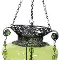 Essentials Décor Entrada Collection Metal Candle Holder, 31.5 by 6 by 6-Inch, Green
