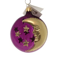 Golden Bell Collection MIDNIGHT & CRESCENT MOON Ornament Halloween Christmas Nvv132