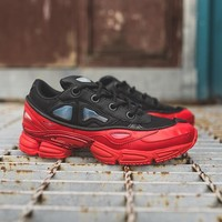 Raf Simons x Adidas Consortium OzweegoIII Red Women Men Casual Trending Running Sports Shoes Sneakers
