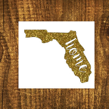 GLITTER Florida Home Decal | Florida State Decal | Homestate Decals | Love Sticker | Love Decal  | Car Decal | Car Stickers | Bumper | 101