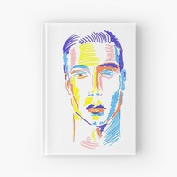 'Pop art face-color lines' Cuaderno de tapa dura by Sinmigo