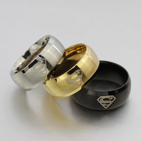 Fashion Male Superman Logo Chain Bangle Gift Toy Black/Gold/Silver #R0602 = 1945844420