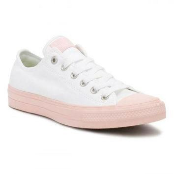 CREYUG7 Converse All Star Chuck Taylor II Womens Ox White/Vapour Pink Trainers