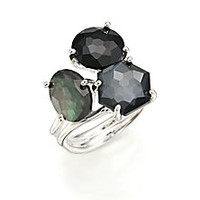 IPPOLITA - Rock Candy Black Tie Semi-Precious Multi-Stone & Sterling Silver Cluster Ring - Saks Fifth Avenue Mobile