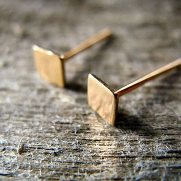 Square Stud Earrings 14k Gold Fill