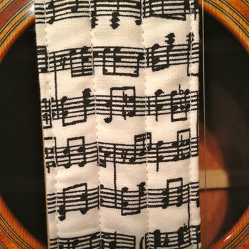 Guitar Strap - Handmade - Sheet Music