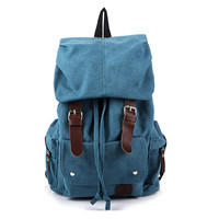Large Size High Quality Men and Women's Backpack Fashion School Bags Canvas Vintage Backpacks Men's Travel Bag Korean Style