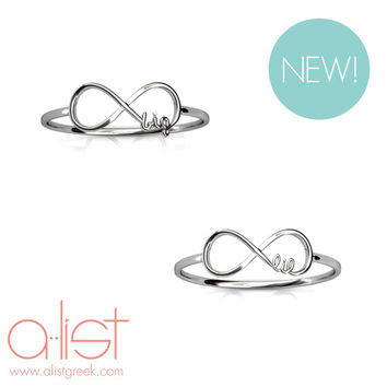 Big Little Infinity Ring Set