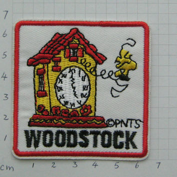 Iron-on Embroidered Patch Woodstock 2.5 inch