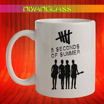 5 sos mug, 5 second of summer cup, 5 seconds of summer mugs,  personalized cup, funny mugs, birthday ceramic mug