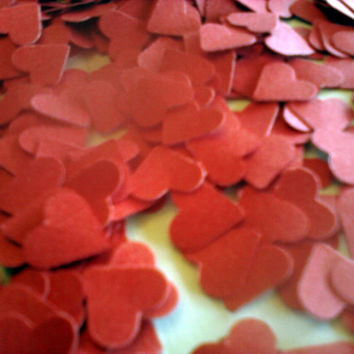 500 pc Mini Red Heart Confetti Tiny Paper Hearts Card stock Heart Cutouts Table Scatter Party Decoration Wedding Bridal or Baby Shower Decor
