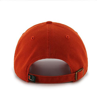 "Miami Hurricanes Orange ""Clean Up"" Adjustable Cap - '47 Brand NCAA Relaxed Fit Baseball Hat"
