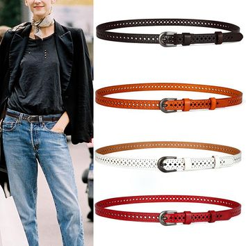Retro First Layer Thin Leather Belt [2974245074]