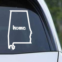 Alabama Home State Outline AL Yellowhammer Die Cut Vinyl Decal Sticker