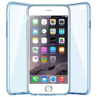 """iPhone 6 Slim Case, Slicoo Transparent Plastic with TPU Rubber Protective Carrying Cover Clear Case for 5.5"""" iPhone 6 Plus (Blue)"""