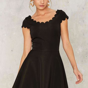 Nasty Gal Dream Seam Scalloped Dress