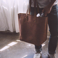 The Oversized Tote - Tan