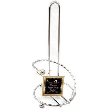 Twisted Chrome Paper Towel Holder