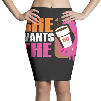 She Wants The D Dunkin Donuts Pencil Skirts