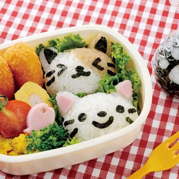 Boutique 3Pcs Cute Smile Cat Sushi Nori Rice Mold Decor Cutter Bento Maker Sandwich DIY Tool Free shipping