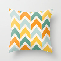 Citrus Chevron Throw Pillow by Beth Thompson | Society6