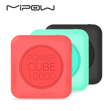 MIPOW 10000mAh Power Bank, Portable Battery, Double USB Charger, 2.4A Fast Charge for iPhone7 iPod iPad Apple iOS Andriod Xiaomi