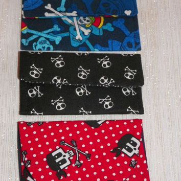 Pirate and Skulls Card Wallet Selection of Three Your Choice of One