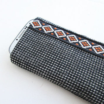 Wool Iphone 5s, Iphone 5c, Iphone 5 Sleeve, IPhone case, IPhone cover, iPod case, iPhone Sleeve (padded).