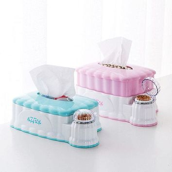 Plastic Tissue Box Paper Napkins Holder Dispenser Home Organizer