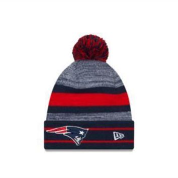 ESBON NFL New England Patriots Cuffed Pom Knit Hat