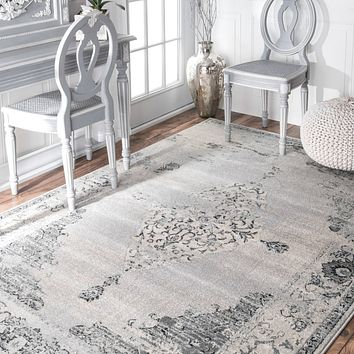 20032 Gray Distressed Oriental Area Rugs