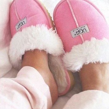 UGG Fashion Women Casual Wool Slipper Shoes