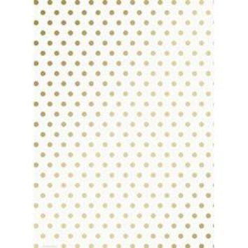 Gold Dots Roll Wrap