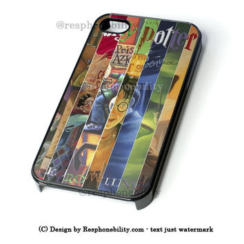 Harry Potter All 7 Books iPhone 4 4S 5 5S 5C 6 6 Plus Case , iPod 4 5 Case , Samsung Galaxy S3 S4 S5 Note 3 Note 4 Case , and HTC One X M7 M8 Case