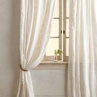 Florentine Curtain by Anthropologie in Cream Size: